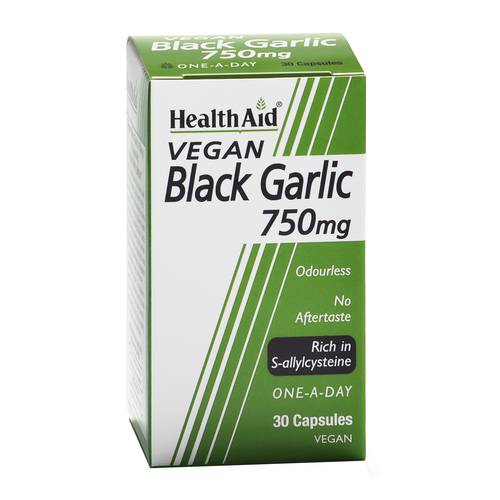 BLACK GARLIC 750MG 30CPS