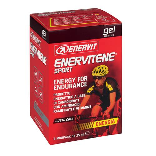 ENERVITENE GEL PACK COLA 6PZ