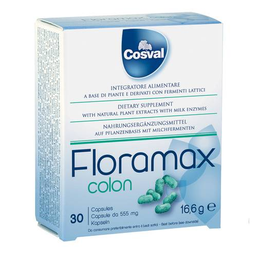 FLORAMAX COLON 30CPS 555MG