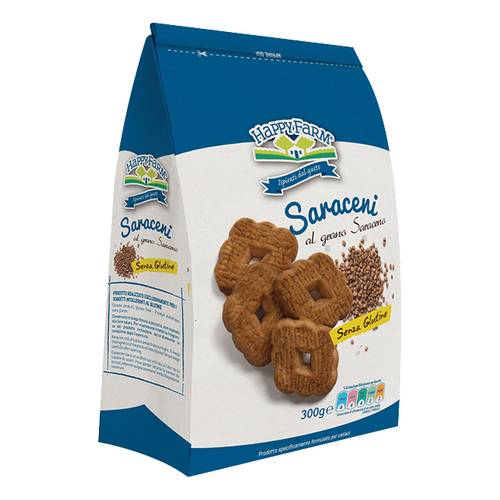 HAPPY FARM BISC SARACENI 300G