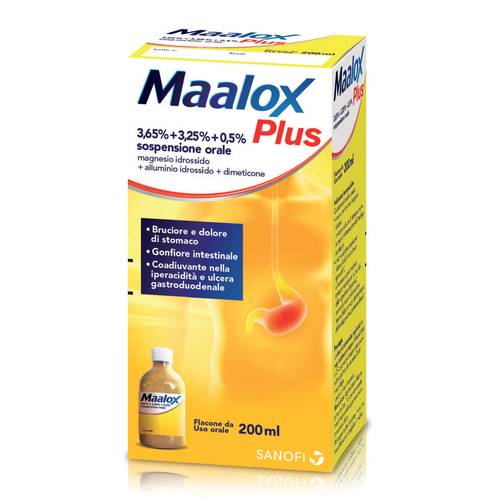 MAALOX PLUS*OS SOSP FL 200ML