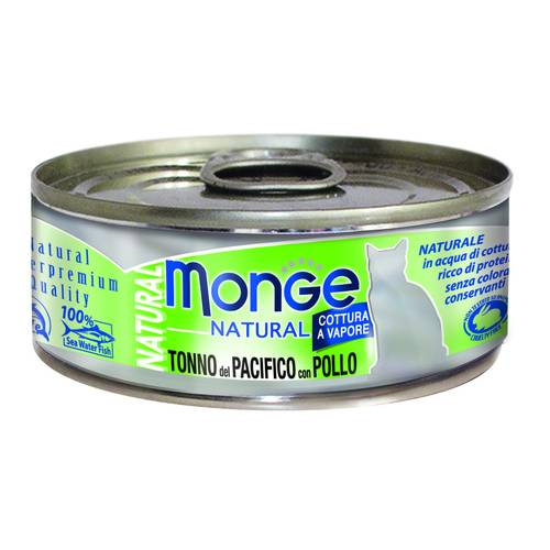 MONGE NATURAL TONNO PAC C/POLL
