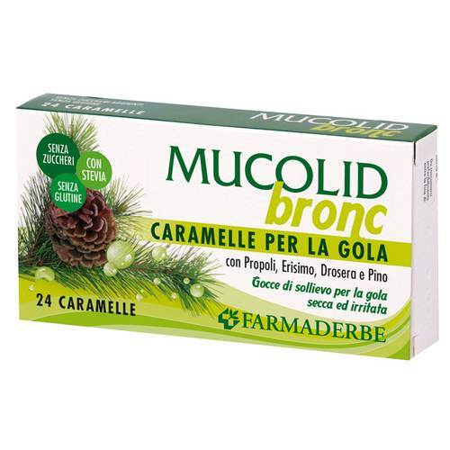 MUCOLID BRONC 24CARAMELLE