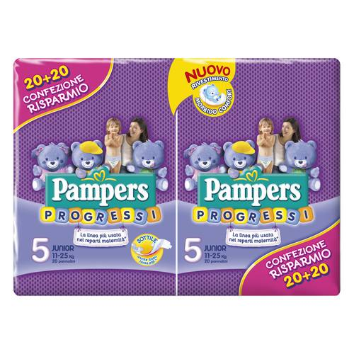 PAMPERS PROGRESSI JUNIOR 40