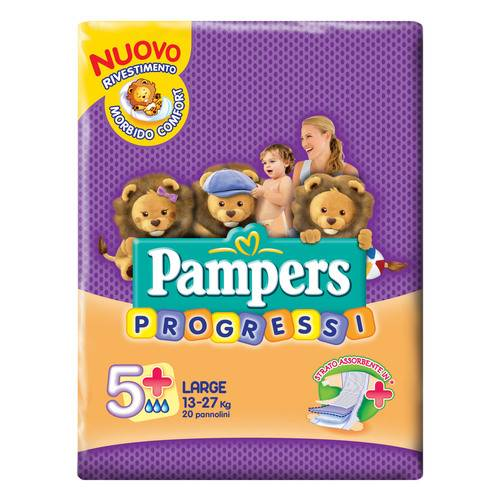 PAMPERS Progressi Playtime L 20 pezzi