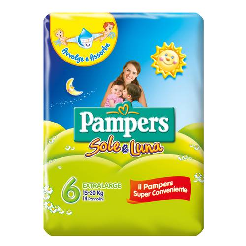 PAMPERS SOLE&LUNA FLASH XL 14P