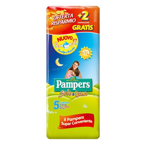 PAMPERS SOLE&LUNA JUNIOR 36+2P