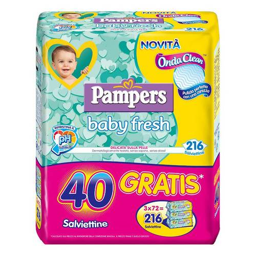 PAMPERS Wipes Baby Fresh 3x72 pezzi