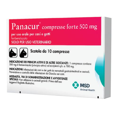 PANACUR*FORTE 10CPR 500MG
