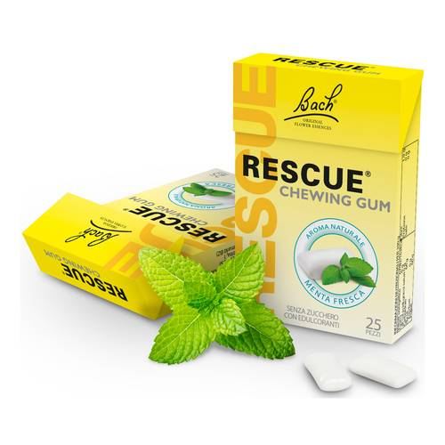 RESCUE CHEWING GUM MENTA 25PZ