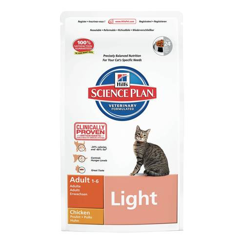 SCIENEPLAN GATTO ADULTO LIGHT POLLO 1,5kg