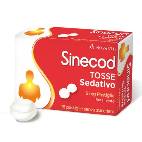 SINECOD TOSSE Sedativo 18past 5mg