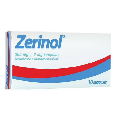 Zerinol 300 mg. + 2 mg. 10 supp.